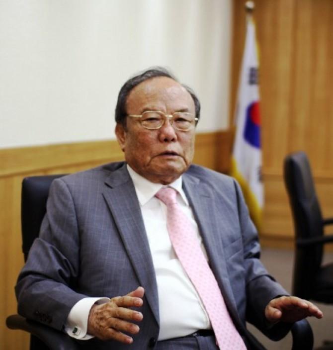2014년 과학기술포럼 이사장 재직 당시 김시중 전 과학기술처 장관 - 동아사이언스 제공